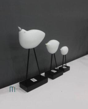 Bộ 3 chim trắng mỏ sắt