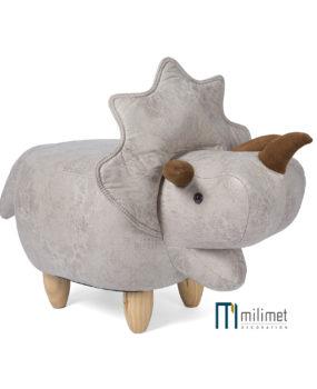 Ghế hình con tê giác xám (da)