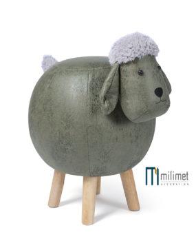 Ghế hình con cừu màu xanh (da)