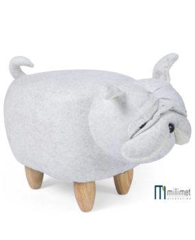 Ghế  hình con chó pitbull màu sữa