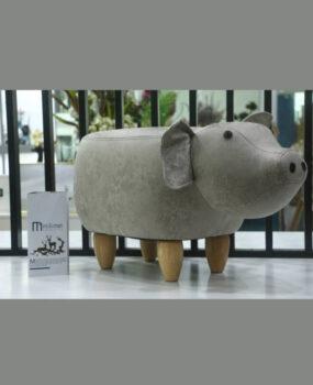 Ghế hình con lợn màu xám