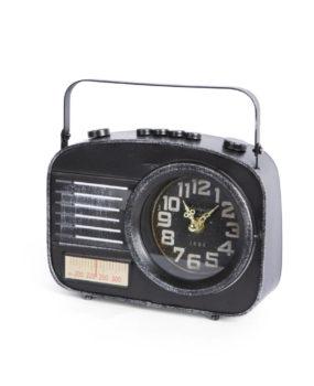 Đồng hồ radio đen