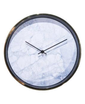 Đồng hồ viền vàng mặt trắng  kim đen