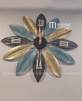 Đồng hồ sắt lá xanh vàng 60cm