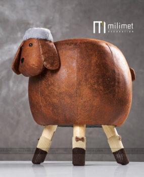 Ghế hình con cừu màu nâu đậm
