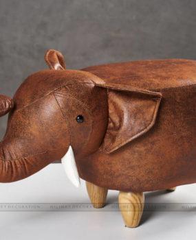 Ghế thú hình voi màu nâu đậm