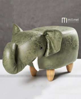 Ghế thú hình voi màu xanh
