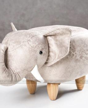 Ghế thú hình voi trắng xám