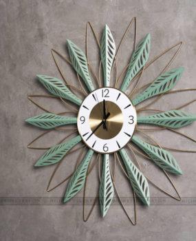 đồng hồ lá xanh (70*70)