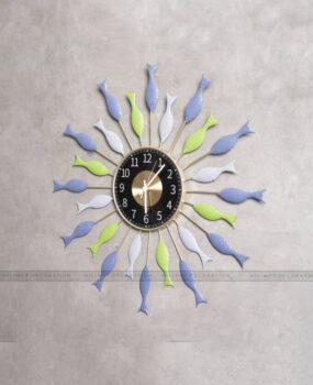 đồng hồ đàn cá xanh (66*66)