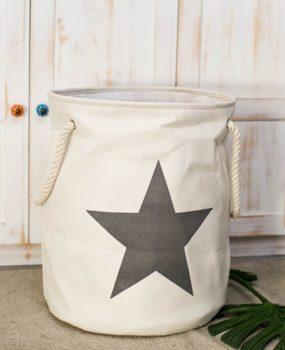 Sọt ngôi sao màu sữa (50x46cm)