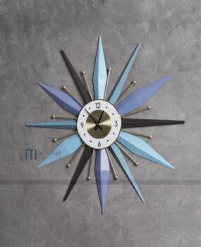 Đồng hồ sắt xanh nhạt 78cm