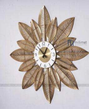Đồng hồ lá vàng (80*80)