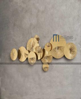Décor gắn tường vàng tròn (128*50)