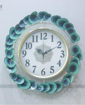 đồng hồ sắt viền lá xanh (58*58*9.5)