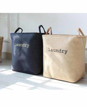 Sọt Laundry  màu xanh bò (40x40cm)