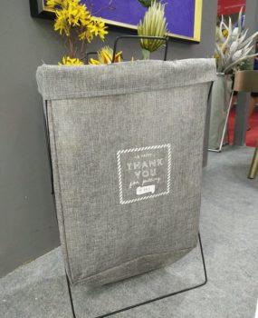 Sọt màu ghi có giá đỡ  (56x35cm)