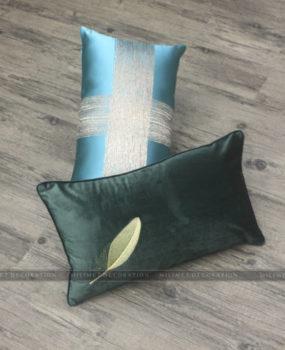Gối lông vũ xanh rêu 30×50