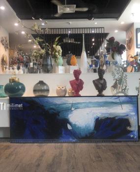 Tranh sơn dầu sóng xanh(45*130)