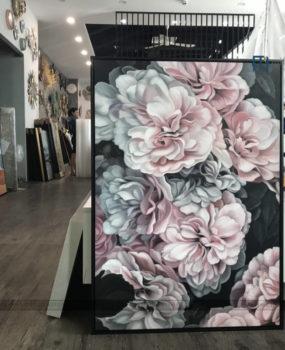 Tranh sơn dầu hoa mẫu đơn hồng nhạt(70*100)