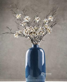 Lọ hoa sơn mài đá xanh cổ bé