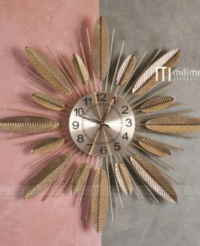 Đồng hồ lá vàng nhỏ