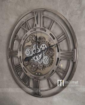 Đồng hồ bánh răn la mã màu bạc D=80