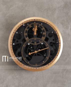 Đồng hồ 2 máy mặt đen D=36