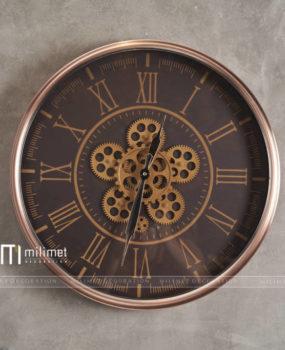 Đồng hồ treo tường 6 bánh răng vàng