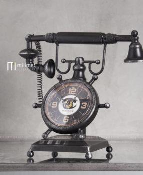 Đồng hồ điện thoại mặt đen