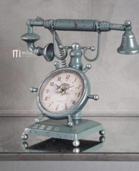 Đồng hồ điện thoại màu xanh