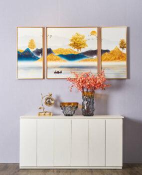 tranh bộ 3 cây vàng núi vàng dòng sông