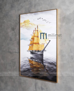 Tranh thuyền vàng 80x120cm