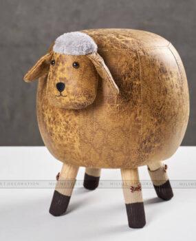 ghế thú hình con cừu màu nâu nhạt