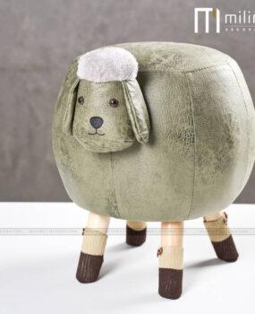 ghế hình con cừu màu xanh