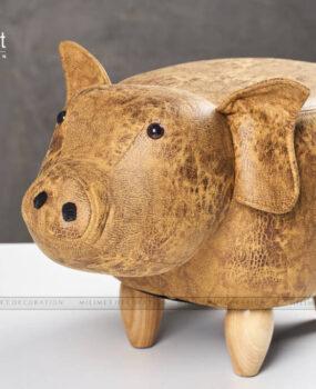 ghế thú hình con lợn màu nâu