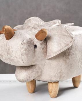 ghế thú tê giác màu xám